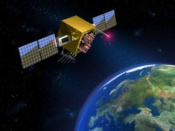 GPS Satellite orbiting the earth